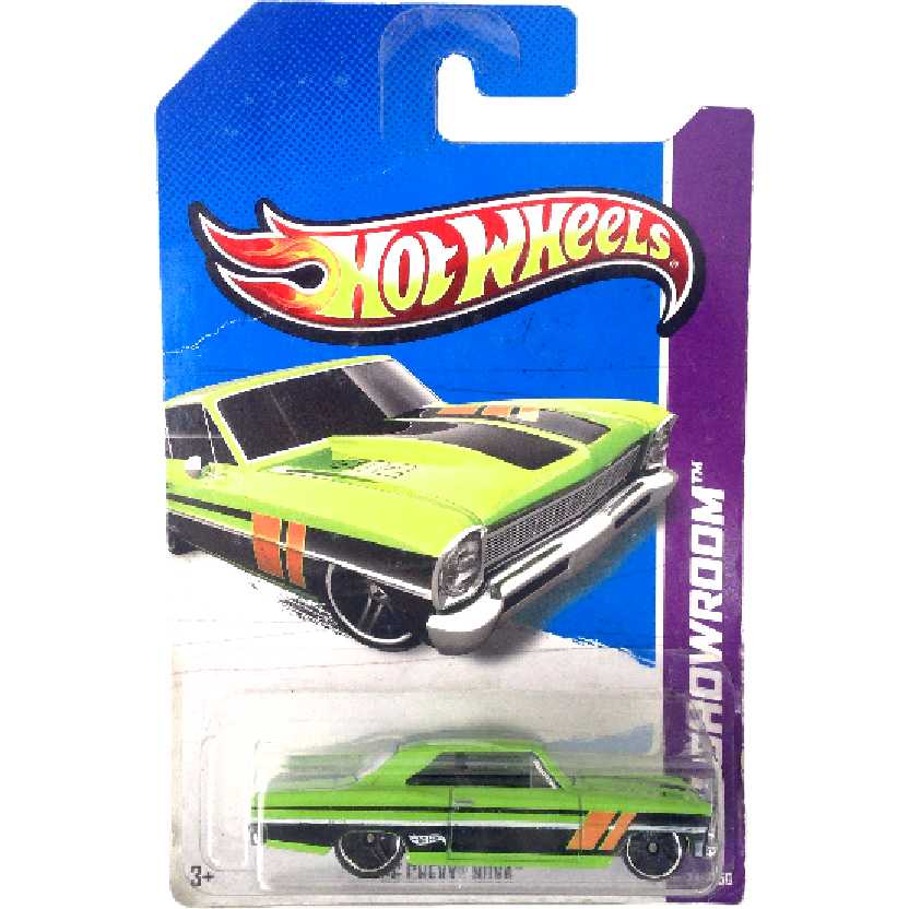 Coleção 2013 Hot Wheels 66 Chevy Nova series 231/250 X1847 escala 1/64