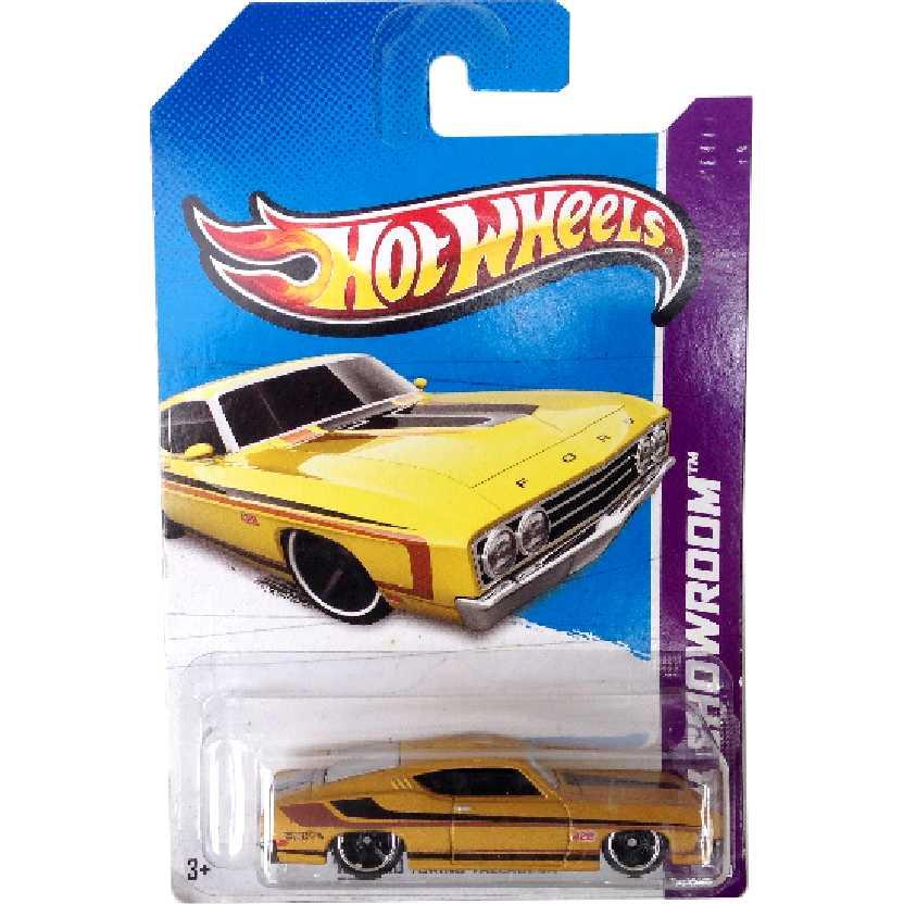 Coleção 2013 Hot Wheels 69 Ford Torino Talladega series 236/250 X1852 escala 1/64