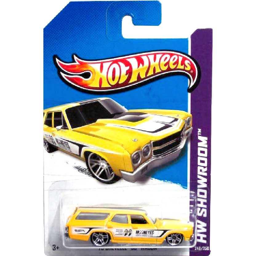 Coleção 2013 Hot Wheels 70 Chevelle SS Wagon X1814 serie 248/250 escala 1/64
