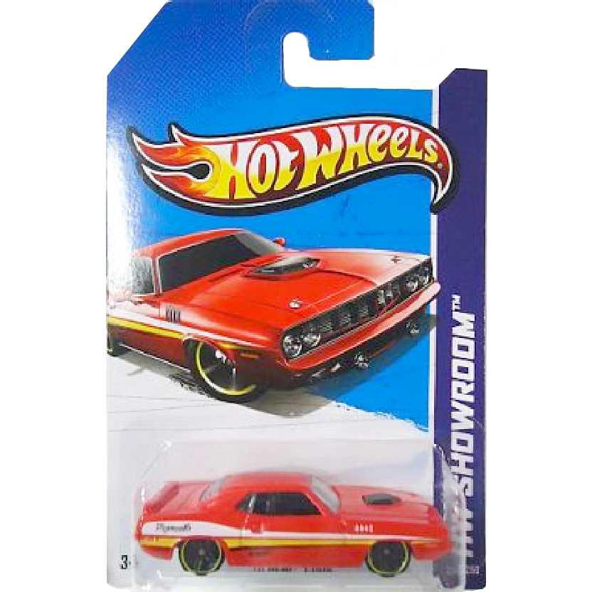 Coleção 2013 Hot Wheels 70 Hemi Cuda X1850 serie 234/250 escala 1/64
