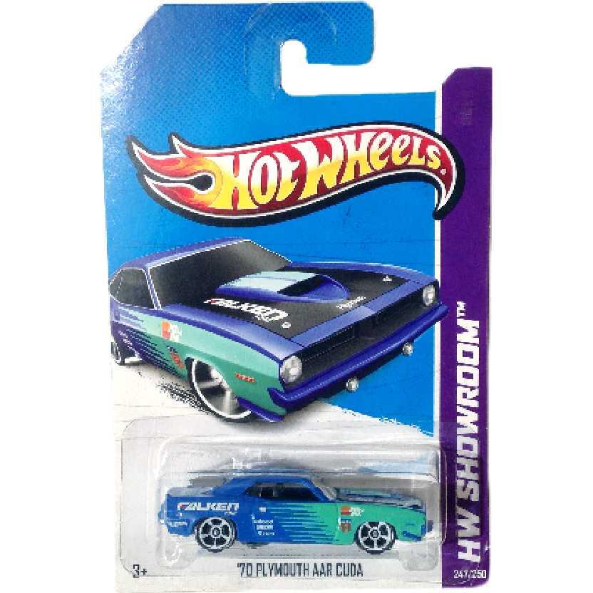 Coleção 2013 Hot Wheels 70 Plymouth AAR Cuda series 247/250 X1813 escala 1/64