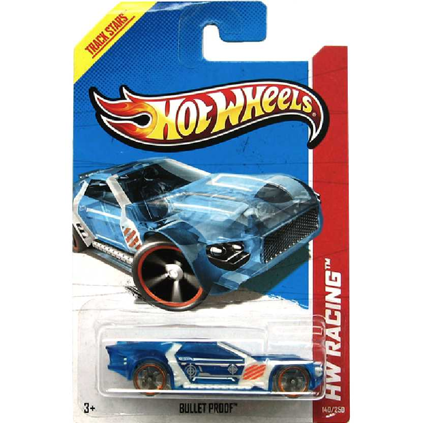 Coleção 2013 Hot Wheels Bullet Proof azul series 140/250 X1946 escala 1/64