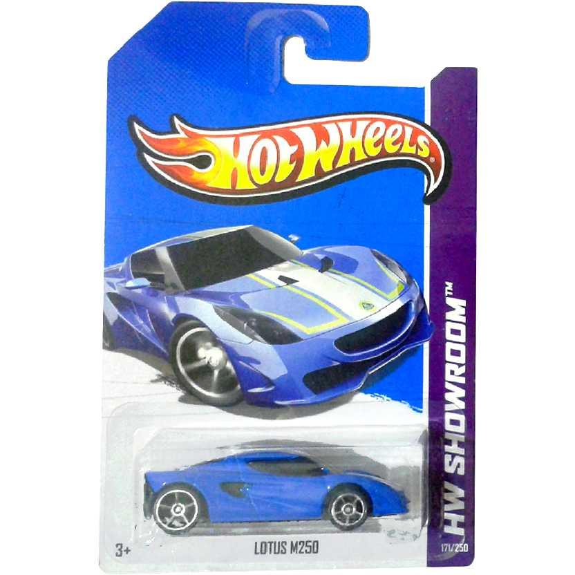 Coleção 2013 Hot Wheels Lotus M250 X1841 azul serie 171/250 escala 1/64