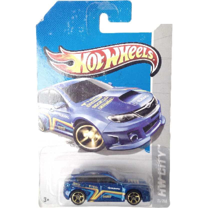 Coleção 2013 Hot Wheels Subaru WRX STI series 25/250 X1926 escala 1/64