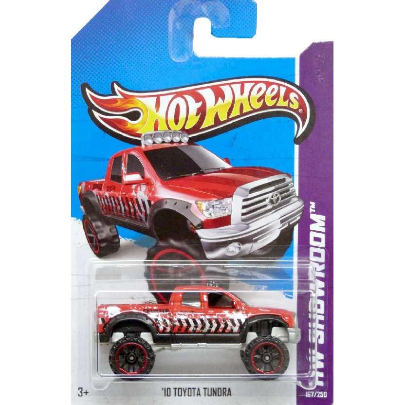 Coleção 2013 Hot Wheels Toyota Tundra vermelho series 167/250 X1831 escala 1/64