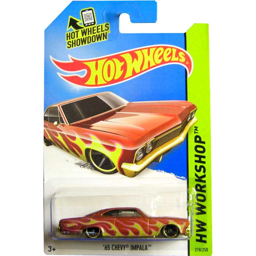 Coleção 2014 Hot Wheels 65 Chevy Impala Low Rider BFD97 series 218/250 escala 1/64
