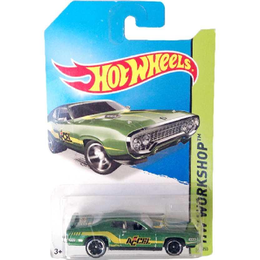 Coleção 2014 Hot Wheels 71 Plymouth Road Runner series 244/250 BFF20 escala 1/64