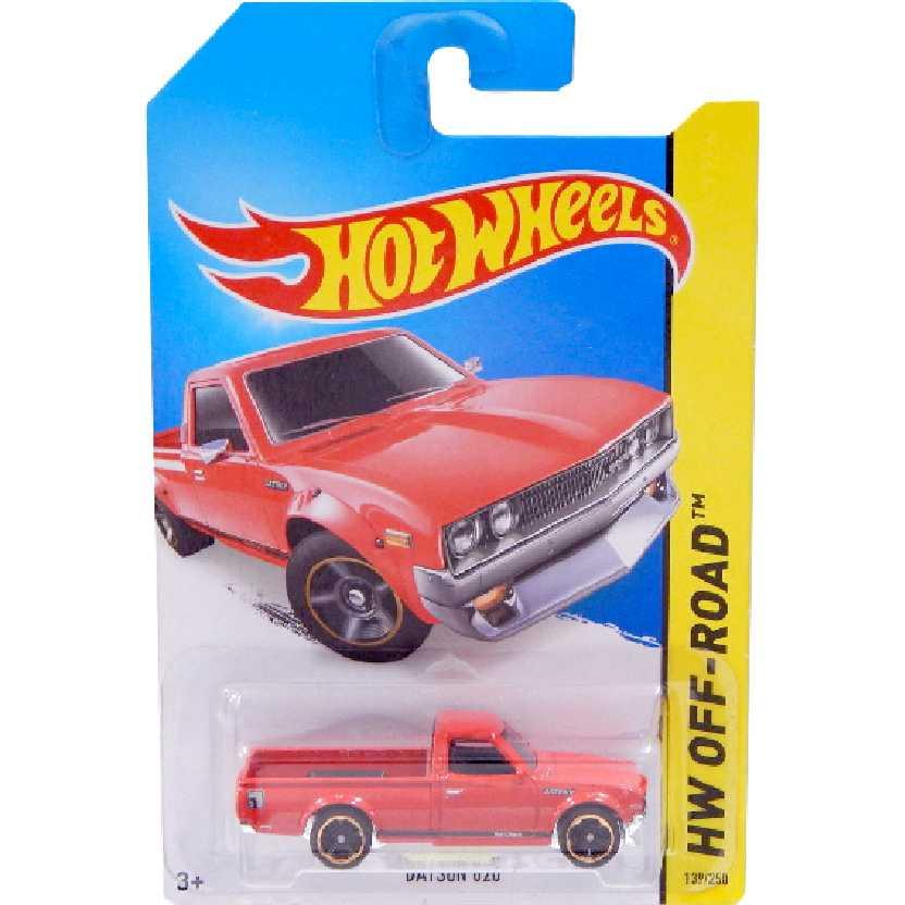 Coleção 2014 Hot Wheels Pickup Datsun 620 vermelha series 139/250 BFF52 escala 1/64