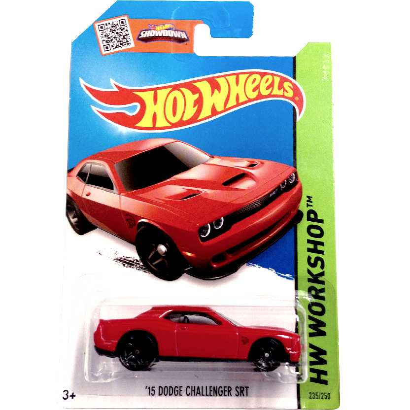 Coleção 2015 Hot Wheels 15 Dodge Challenger SRT Hellcat series 235/250 CFH12 escala 1/64