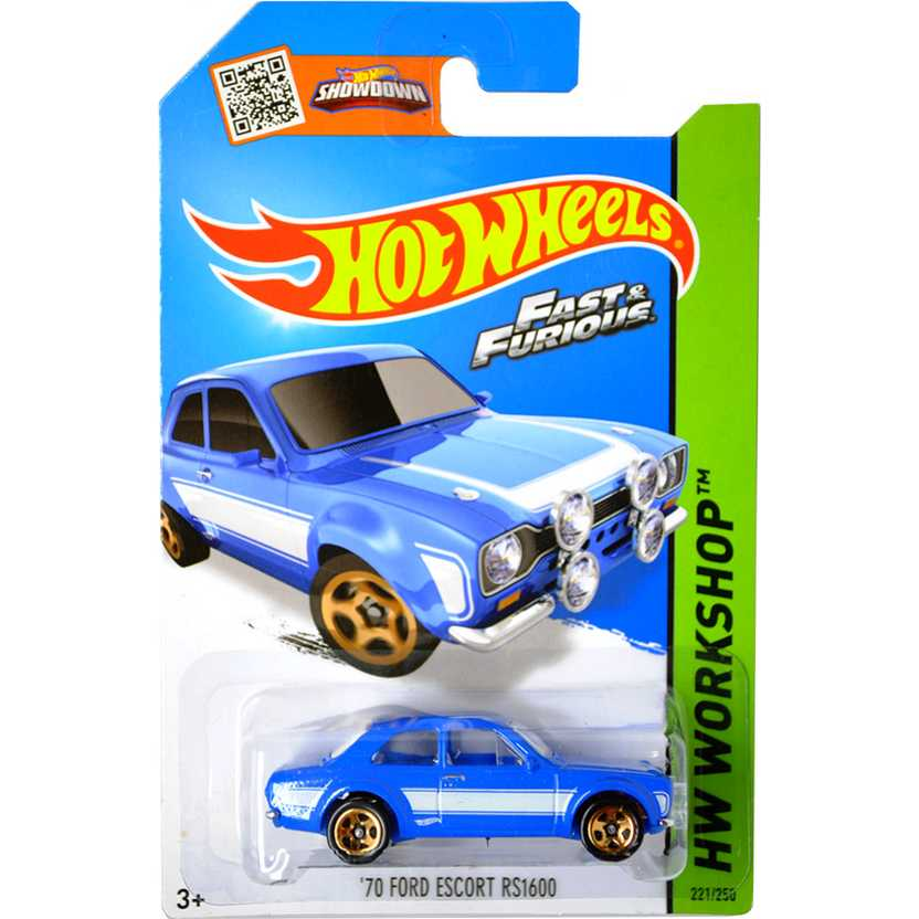 Coleção 2015 Hot Wheels 70 Ford Escort RS1600 series 221/250 CFH18 escala 1/64