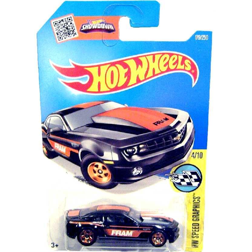 Coleção 2016 Hot Wheels 13 Chevrolet Copo Camaro FRAM series 4/10 179/250 DHX57 escala 1/64