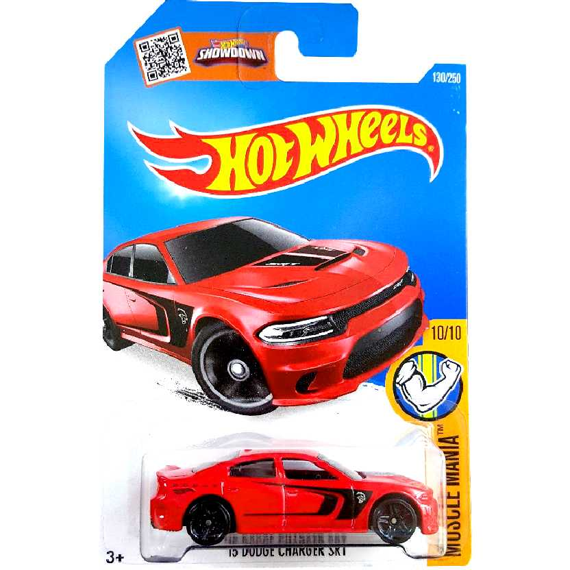 Coleção 2016 Hot Wheels 15 Dodge Charger SRT Hellcat series 130/250 DHP15 escala 1/64