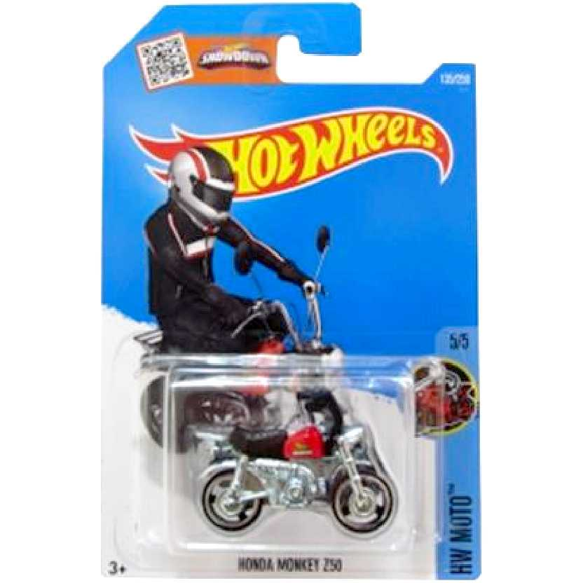 Coleção 2016 Hot Wheels Honda Moneky Z50 series 5/5 135/250 escala 1/64