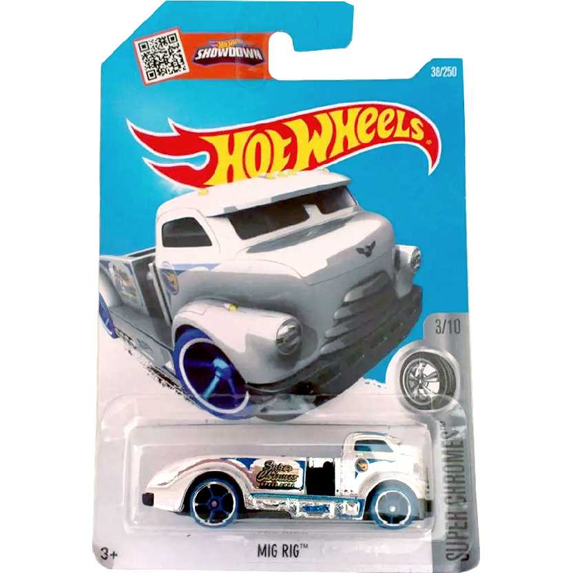 Coleção 2016 Hot Wheels Mig Rig Treasure Hunt series 3/10 38/250 DHP66 escala 1/64