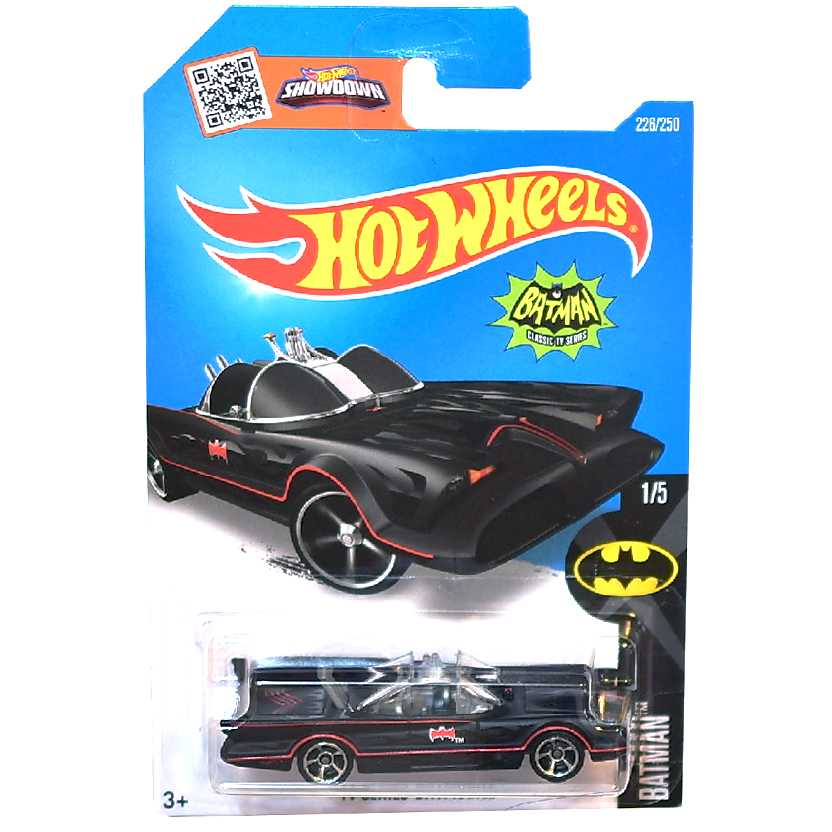 Coleção 2016 Hot Wheels Tv Series Batmobile series 1/5 226/250 DHT15 escala 1/64