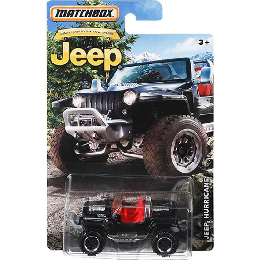 Coleção 2016 Matchbox Jeep Hurricane 75th Anniversary Edition DMN29 escala 1/64