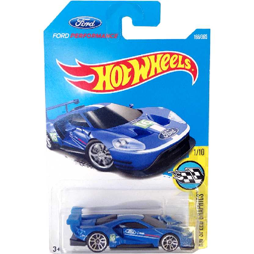 Coleção 2017 Hot Wheels 2016 Ford GT Race series 166/365 DTW92 escala 1/64