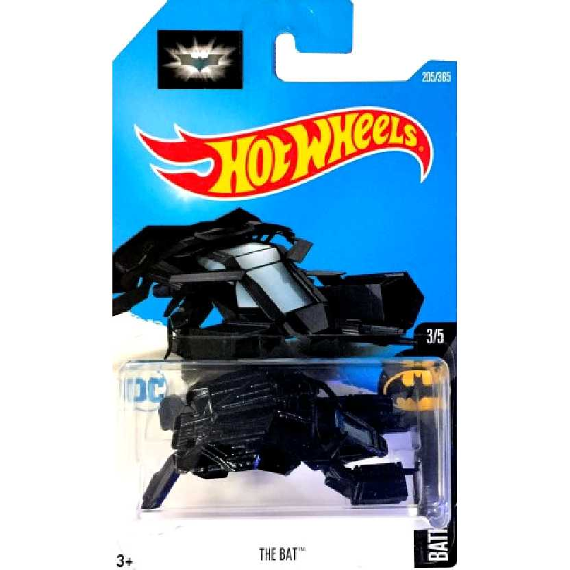 Coleção 2017 Hot Wheels Batman The Bat series 3/5 205/365 DTY47 escala 1/64