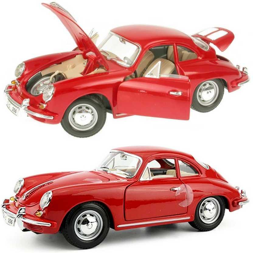 Coleção Bburago 1961 Porsche 356B coupe vermelho escala 1/18