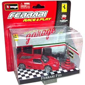 Coleção Bburago Ferrari Race and Play Diorama escala 1/43 :: Ferrari F50