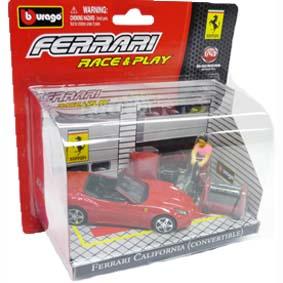 Coleção Bburago Ferrari Race and Play :: Ferrari California Cenário escala 1/43