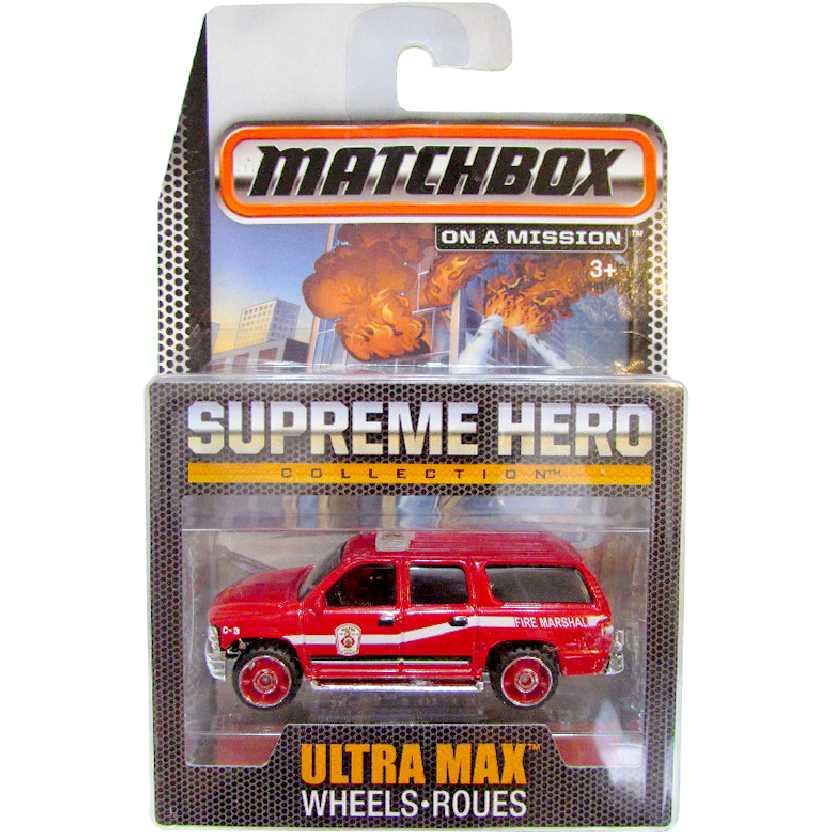Coleção Bombeiros Matchbox Supreme Hero 2000 Chevrolet Suburban CGG04 escala 1/64