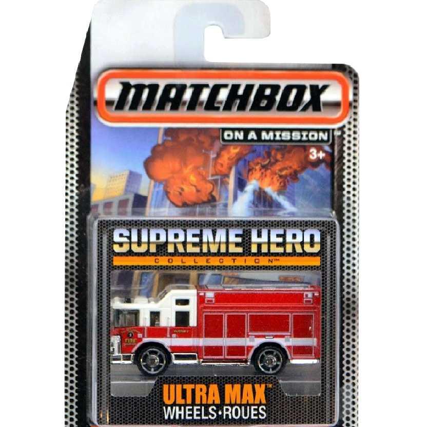 Coleção Bombeiros Matchbox Supreme Hero Hazard Squad CGG02 escala 1/64