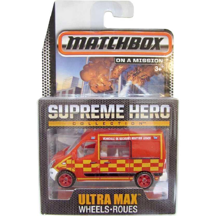 Coleção Bombeiros Matchbox Supreme Hero Renault Master CGF98 escala 1/64