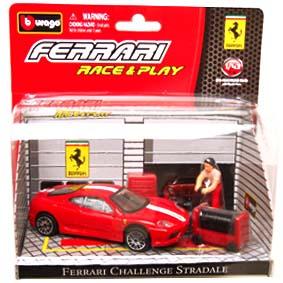 Coleção Burago Ferrari Race and Play / Ferrari 360 Challenge Stradale Diorama 1/43