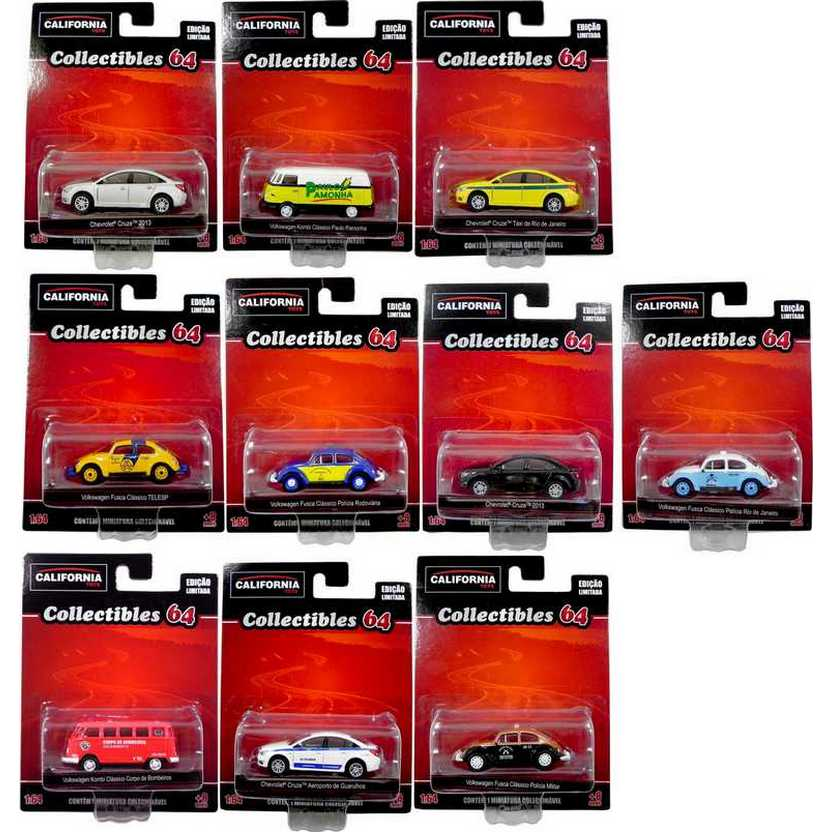 Coleção California Toys Collectibles series 2 com 10 miniaturas escala 1/64