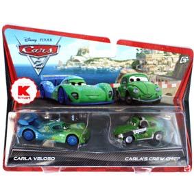 Coleção Carros 2 Disney chefe de equipe Cruz Besouro e Carla Veloso Cars II