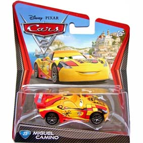 Coleção Carros 2 Disney da Mattel /  Miguel Camino Filme Cars 2 Pixar