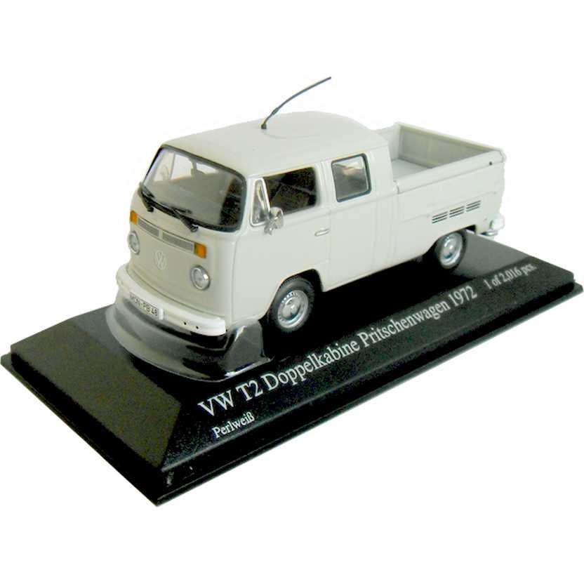 Coleção carros inesquecíveis do Brasil - VW Kombi Cabine Dupla (1972) Minichamps escala 1/43