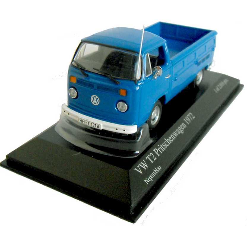 Coleção carros inesquecíveis do Brasil - VW Kombi Pickup (1972) Minichamps escala 1/43