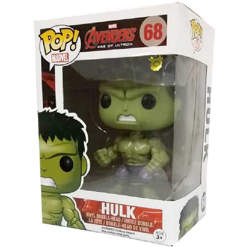 Coleção de Bonecos Funko POP! Hulk Avengers Age of Ultron vinyl figure número 68