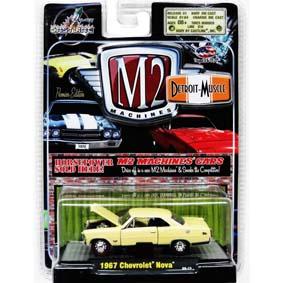 Coleção de Carrinhos Antigos M2 Detroit-Muscle Chevrolet Nova (1967) 1/64 R5 31600