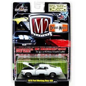 Coleção de Carrinhos Miniaturas M2 1/64 Detroit Ford Mustang Boss 429 (1970) R5 31600