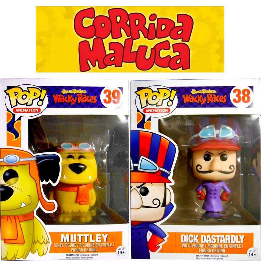 Coleção Funko Pop! Corrida Maluca Muttley + Dick Vigarista número 39 e 38