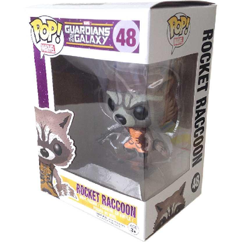 Coleção Funko POP! Guardiões da Galáxia - Rocket Raccoon vinyl figure número 48 Original