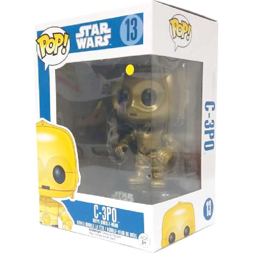 Coleção Funko Pop! Star Wars C-3PO vinyl figure número 13 Guerra nas Estrelas