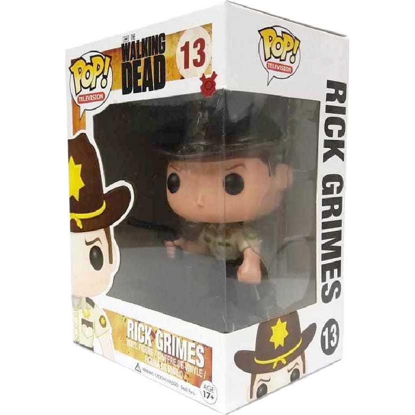 Coleção Funko Pop! The Walking Dead Rick Grimes vinil figure número 13 original
