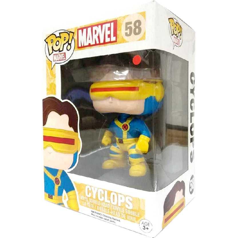 Coleção Funko Pop! X-Men Cyclops ( Ciclope ) Marvel Comics figure número 58 Original