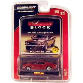 Coleção Greenlight Brasil Mustang Boss 429 (1969) Auction Blocks 1/64 R13 21710