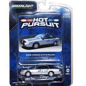 Coleção Greenlight Hot Pursuit Ford Crown V. Virginia Police (2008) R4 42610