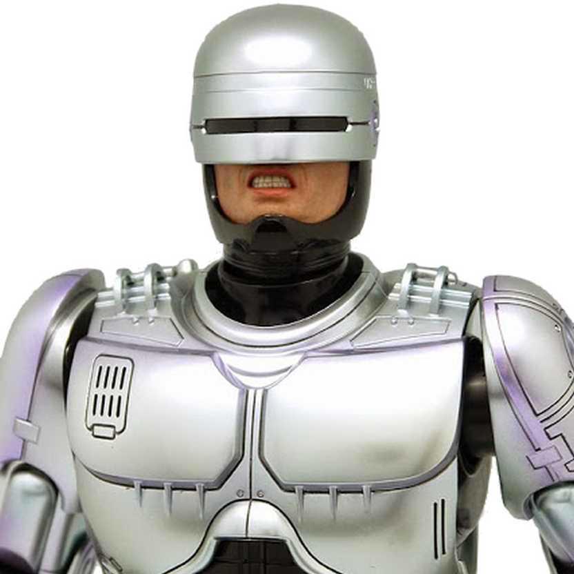Coleção Hot Toys Diecast Robocop MMS202D04 Action Figure escala 1/6 com som