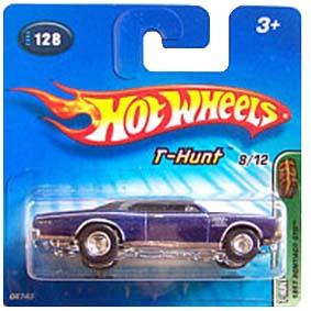 Coleção Hot Wheels 2005 Pontiac GTO (1967) T-Hunt Series 128 G6743 Raridades HW