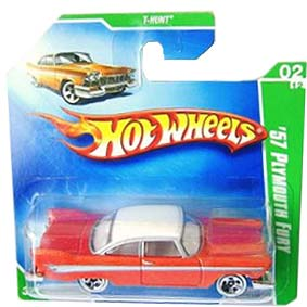 Coleção Hot Wheels 2009 57 Plymouth Fury THunt 044 P2352 (similar Christine)