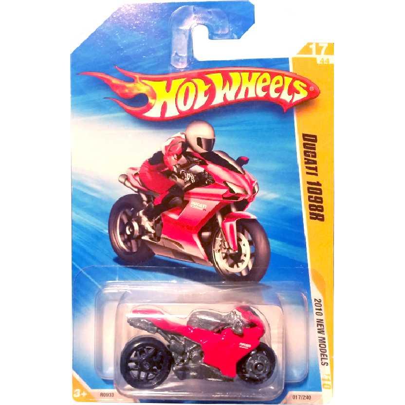 Coleção Hot Wheels 2010 Ducati 1098R vermelha series 18/52 018/214 R0933 escala 1/64