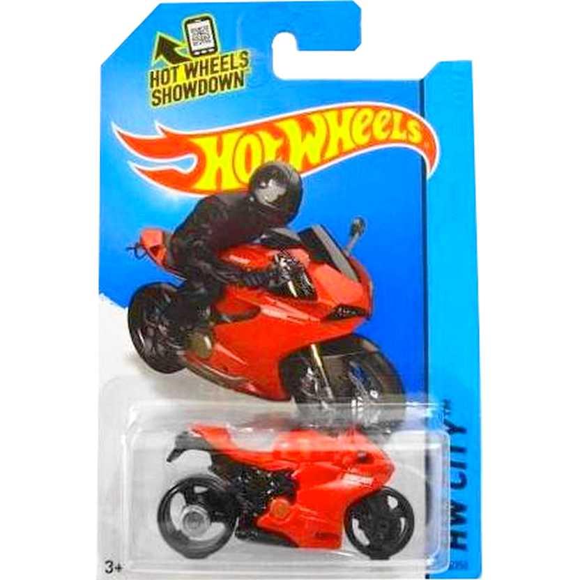 Coleção Hot Wheels 2014 Ducati 1199 Panigale vermelha BDC78 series 36/250