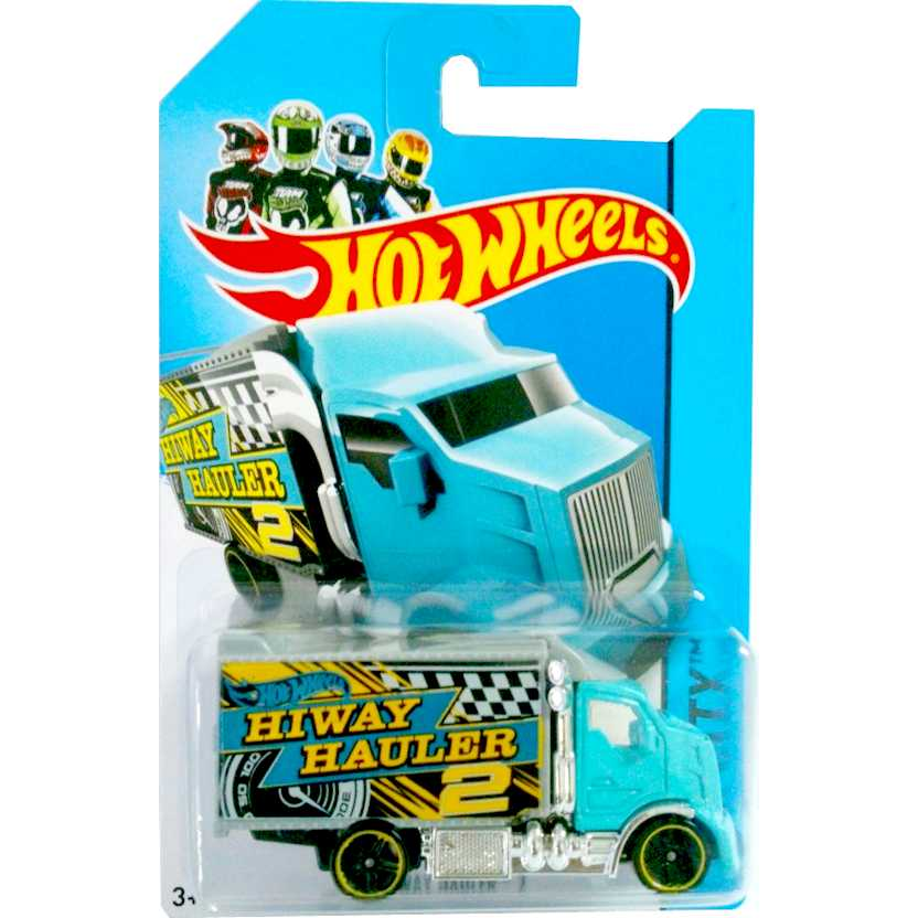 Coleção Hot Wheels 2014 Hiway Hauler 2 azul BFF42 series 6/250 escala 1/64